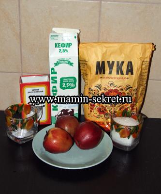 Рецепт приготовления оладушек с яблоком на кефире