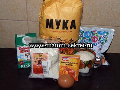 рецепт как приготовить кокосовый пирог на кефире со сливками с фотографиями
