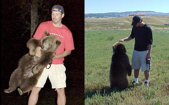 Удивительная история дружбы человека и медведя гризли