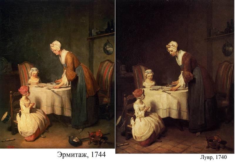 """Художественная галерея №109 - Шарден """"Молитва перед обедом"""""""