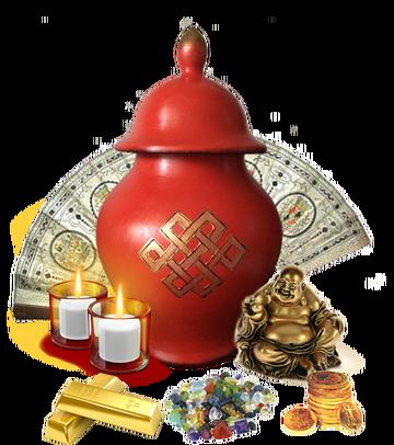 Ваза Богатства для привлечения благополоучия ( ритуал-церемония) - набор RbAh1