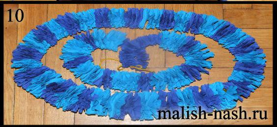 Как сделать гавайскую лею из гофрированной бумаги